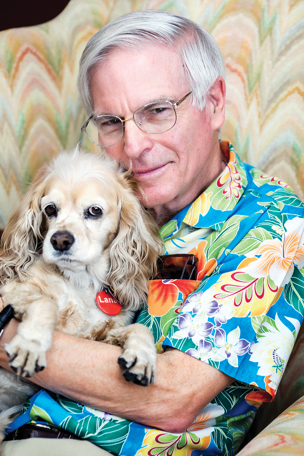 David Soren with his faithful canine companion, Lana.