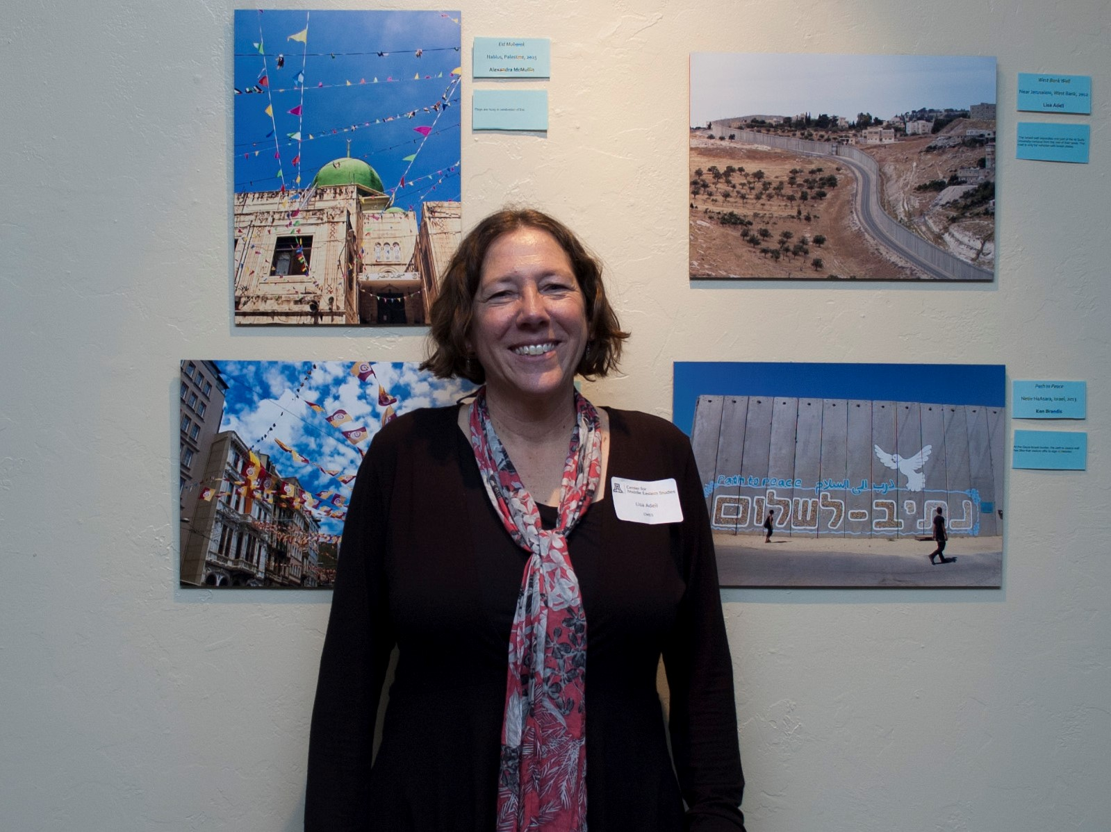Lisa Adeli at the CMES Photo Exhibit in spring 2016.