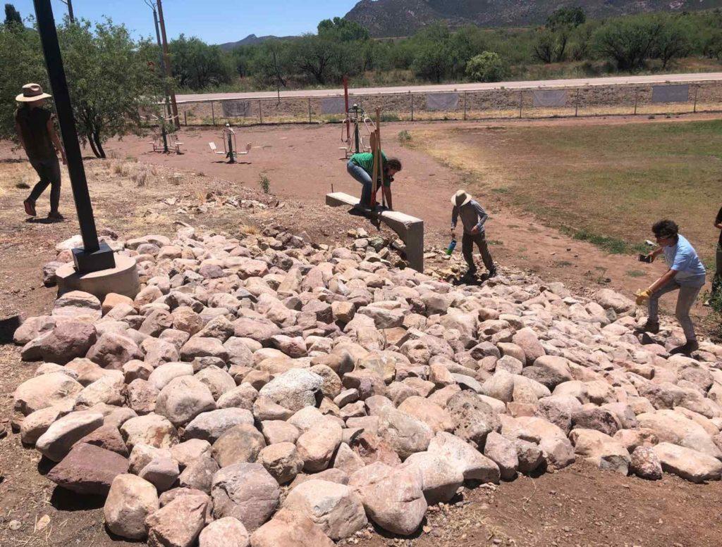 Carrying rocks in Patigonia, Arizona
