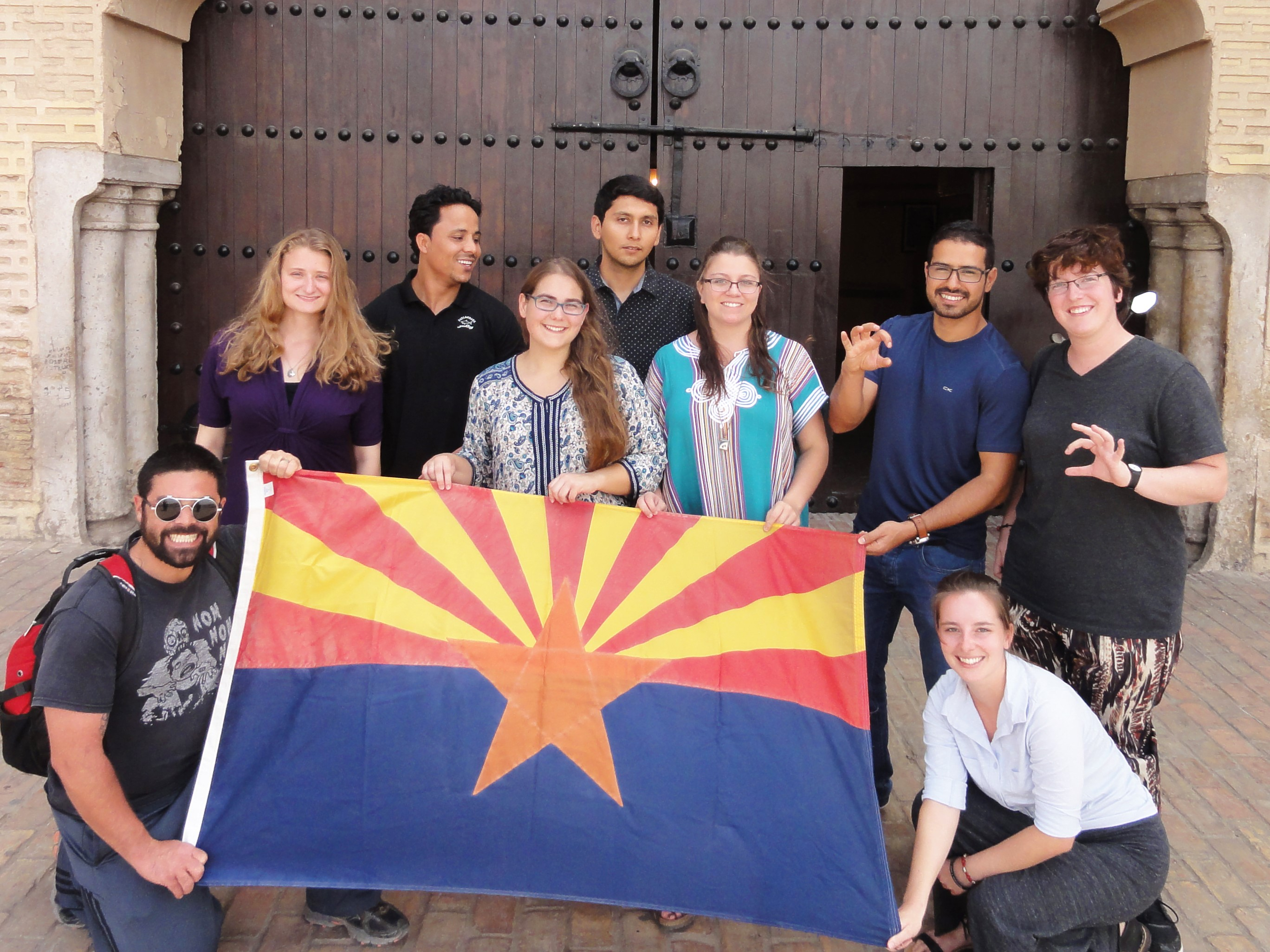Arizona Arabic Flagship students during a study abroad trip to Meknes, Morocco