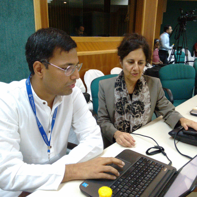 Rajdeep Pakanati and Jeannine Relly