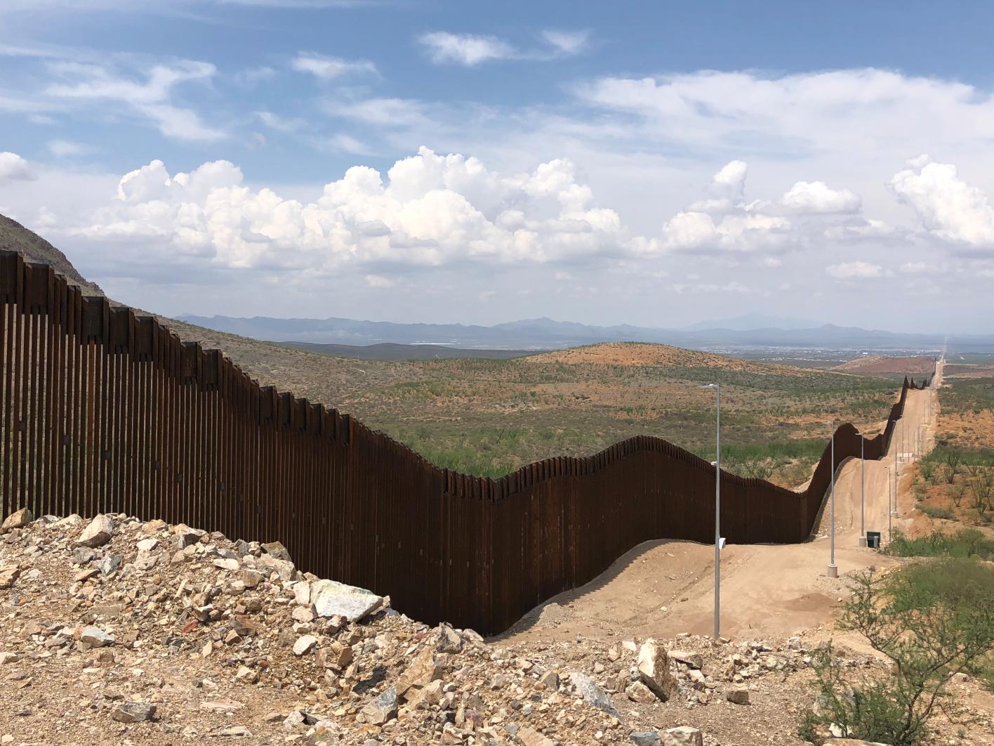 The U.S.-Mexico border wall.
