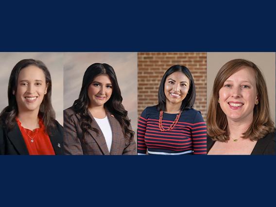 """40 under 40"" recipients: Paloma Boykin, Michelle Ennabe, Charlinda Haudley, and Jill Perrella"