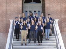 SBS Ambassador group photo at Old Main