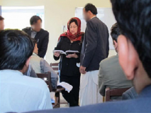 Prof. Maggy Zanger teaches Afghan faculty and journalists