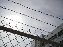 fence and barbed wire
