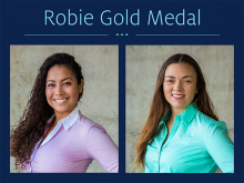 Robie Gold 2019 recipients - Francy D. Luna Diaz and Bryn Deana Sharp