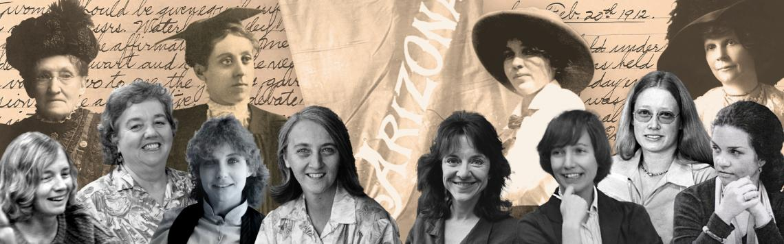 montage of historic women in Arizona and at UArizona