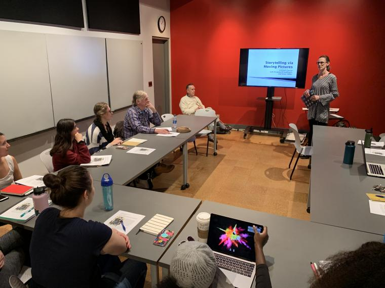 Amand JS Kaufmann offering a workshop at the Univeristy of Arizona