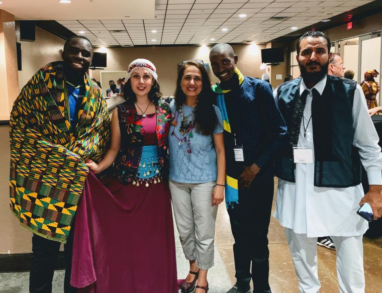 Sonia Shiri (center) with Fulbright Foreign Language Teaching Assistants