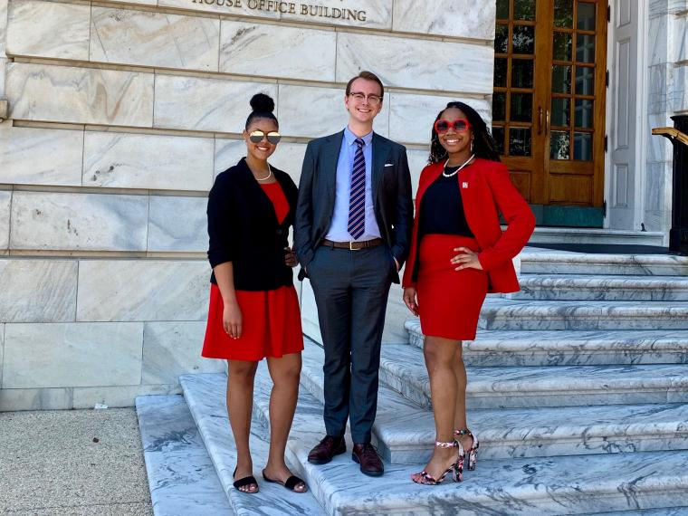 NICD interns ((l-r): Rachel Weinberger, Arizona alumna; Bennett Adamson, University of Arizona; Chiquita Jackson, University of Kansas.