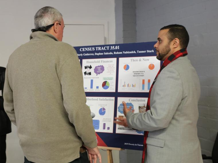 UArizona student discussed findings from the 2019 Poverty in Tucson Field Workshop