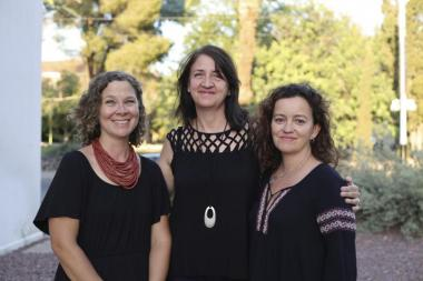 Photo of Chantelle Warner and Beatrice Dupuy and Associate Director Kate Mackay