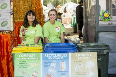 photo of people recycling