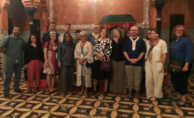 Lisa Adeli (center) with the Teach Morocco Fulbright-Hays group in summer 2019 in Marrakech, Morocco.