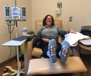 Lisa Adeli when she started her first chemotherapy treatment.