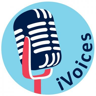 iVoices logo of microphone
