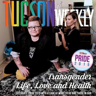 Photo of Anna Augustowska on the cover of Tucson Weekly with Donnie Cianciotto