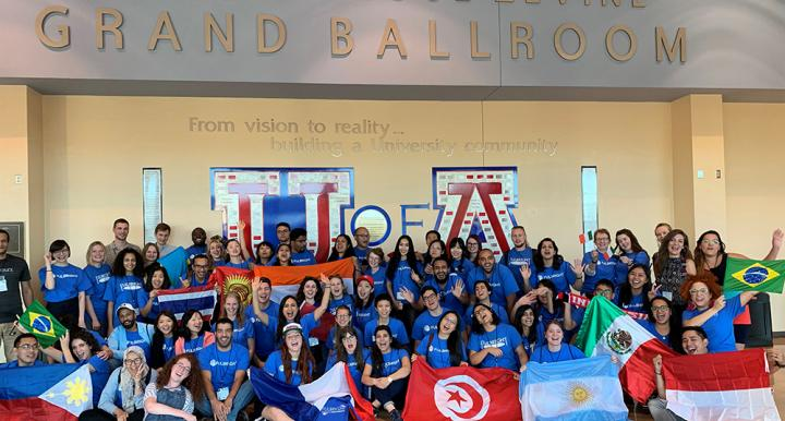 Group picture of Fulbright Foreign Language Reaching Assistants at the Univeristy of Arizona