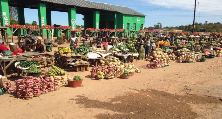Fresh produce in an African village