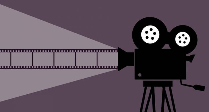 movie camera illustration