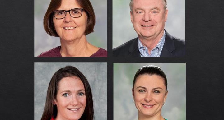 Melody Robidoux's gift to the School of Government and Public Policy supports two senior faculty – school director Edella Schlager and former director Brint Milward – and two mid-career faculty – Samara Klar and Faten Ghosn.